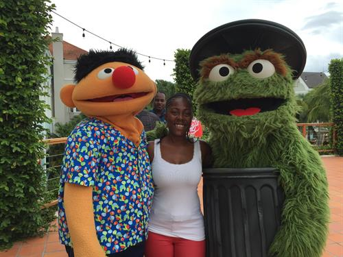 Enjoying Ernie & Oscar the Grouch - Beaches Resorts (Jamaica & Turks & Caicos)