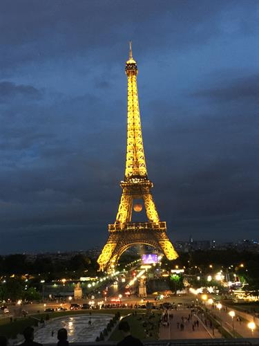The Eiffel Tower during the 2016 FIFA World Cup