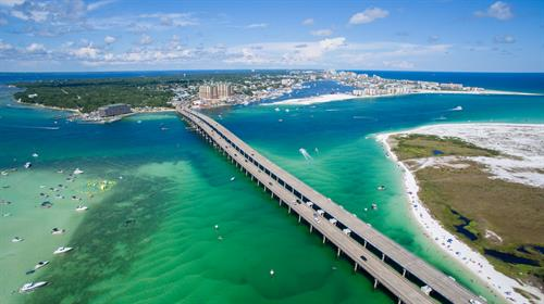 Destin, FL aerial view