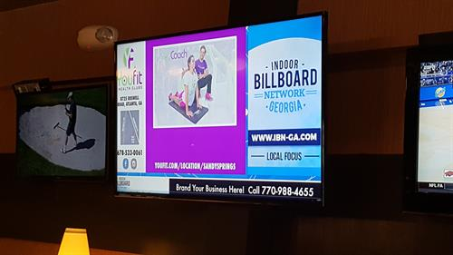Indoor Billboard Network Screen at Taki Japanese Steakhouse