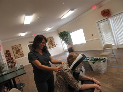 Geriatrics Massage at Senior Homes