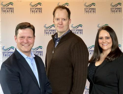 Brandt Blocker (Executive/Artistic Director), Shuler Hensley (Associate Artistic Director), and Natalie Barrow (Managing Director)