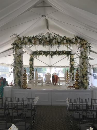 White Stage Under Tent