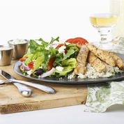 Mediterranean inspired menu. Great for lunch, family and friends.