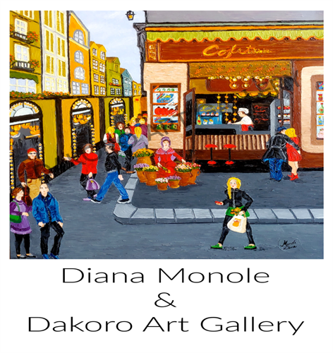 International artist Diana Manole exhibiting from June 1 - June 28 at the Dakoro Art Gallery