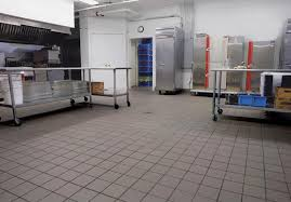 Restaurant kitchens needs to be maintained and treated to prevent injuries.  Not every employee will have on non slip shoes