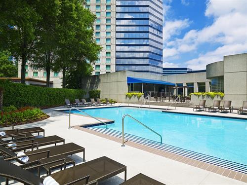 Saltwater outdoor pool