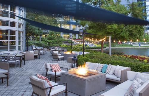 SAVOR Patio overlooking Private Lake with Fire Pits