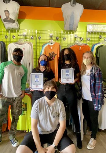 Award Winning Froggers! Best of Perimeter Winner - Best Apparel Boutique & Best Graphics & Print Shop