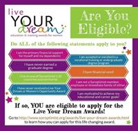 Soroptimist Palm Desert Live Your Dream Scholarships Application now open