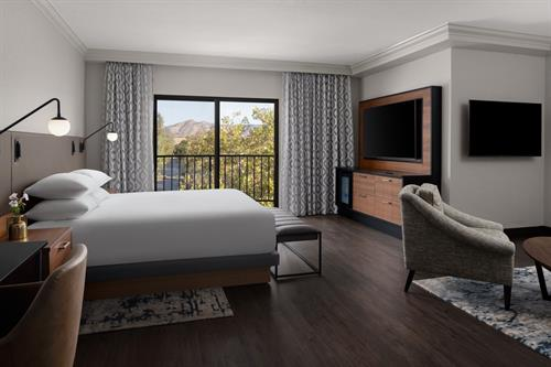 treat yourself in our California Suite with Balcony Room