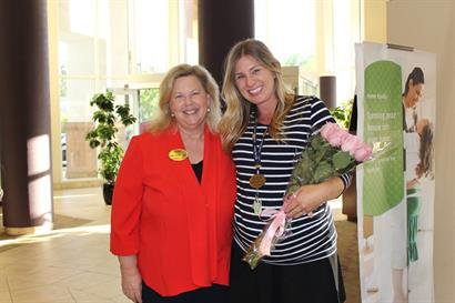 Chamber CEO Jill Lederer and Board Member Natalie Yanez with VCCU