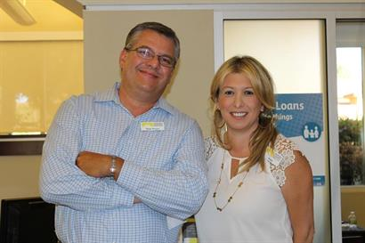 Thom Powers, VCCU Consumer Loan Officer, and Anna Hovnanyan, Branch Manager