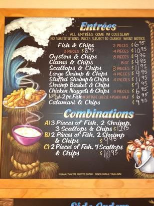 Entrees Menu Board
