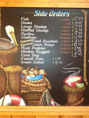 Side Orders Menu Board