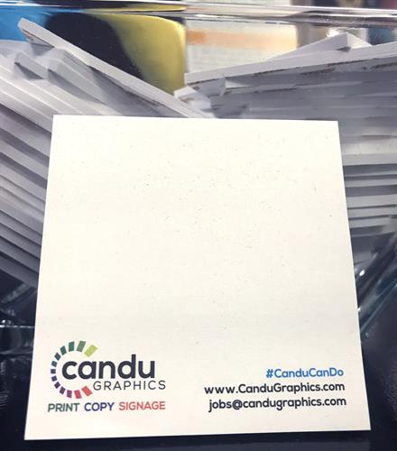 If you need sticky notes for your company, Candu can do!