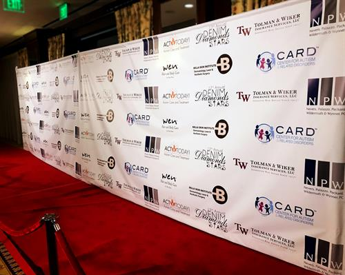 A step and repeat banner we printed for an event.