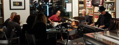 Chris Banta Trio performing at Blue Table in Agoura