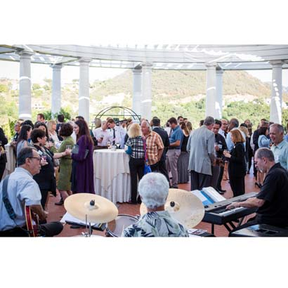 Chris Banta Trio performing at the Sherwood Country Club Mixer