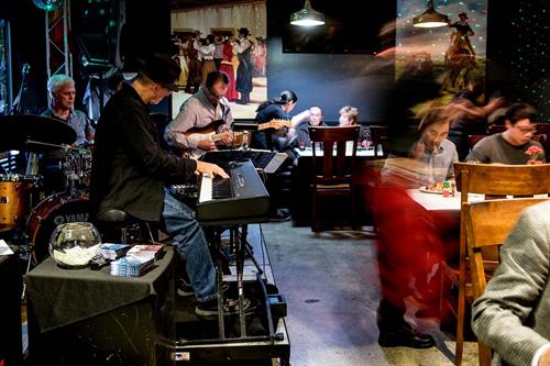 Chris Banta Trio performing at Gauchos Steakhouse in Glendale