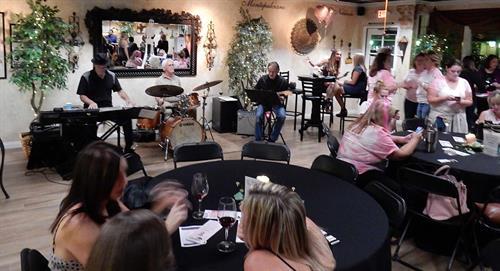 Chris Banta Trio performing at Sunland Vintage Winery Fundraiser