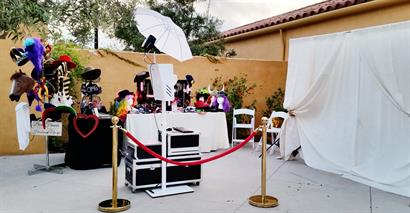 Our set up at The Gardens at Los Robles