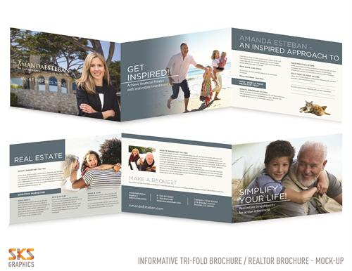 Promotional brochure for realtor - CA