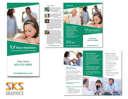 Brochure Design for Wiere Mediation - CA