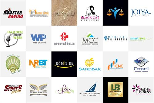 WIde array of logos for all sort of businesses - CA, CT, Germany, Colombia