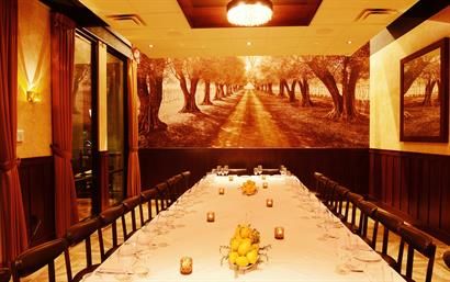 Private dining in the Cucina Room at Olio e Limone Ristorante Westlake Village