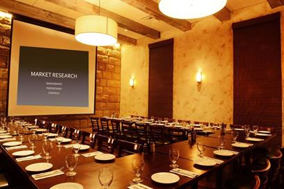 Corporate private dining in the Taverna Room at Olio Pizzeria® Westlake Village