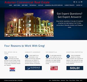 Website Design/Development for Commercial Real Estate Firm