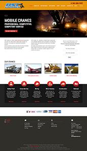 Website Design/Development for Mobile Crane Company