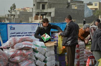 CSI aid distribution in Middle East
