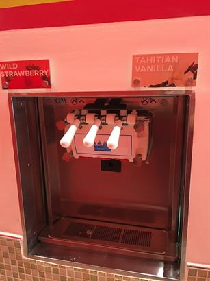 One of four Fro-Yo machines.
