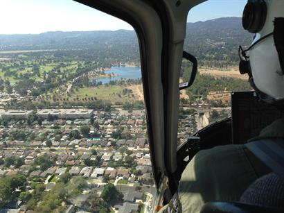 Looking over LA while flying to downtown to treat the LAPD Air Support Officers