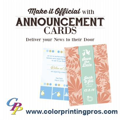 Stunning Announcement Cards