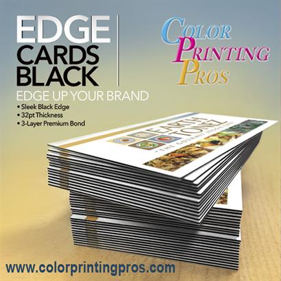Black Edge Cards Stand Out