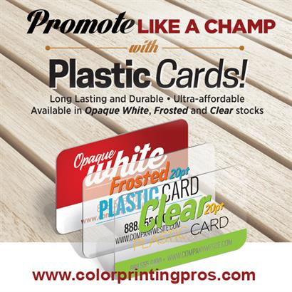 Plastic Cards Create Impact