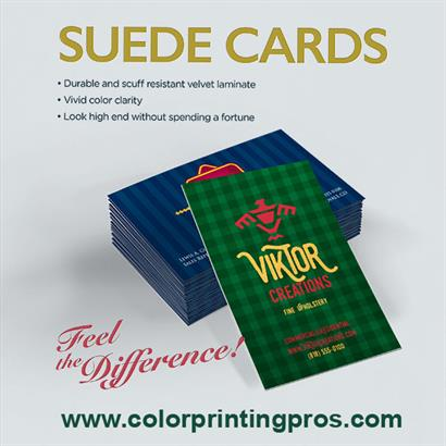 Suede Cards - Feel the Difference