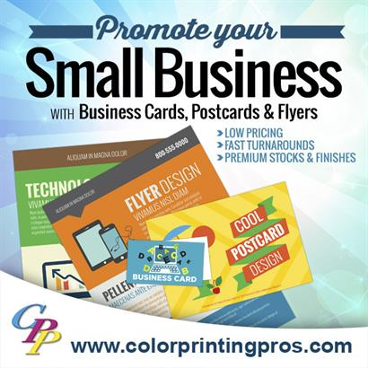 Promote with Business Cards, Flyers and Postcards