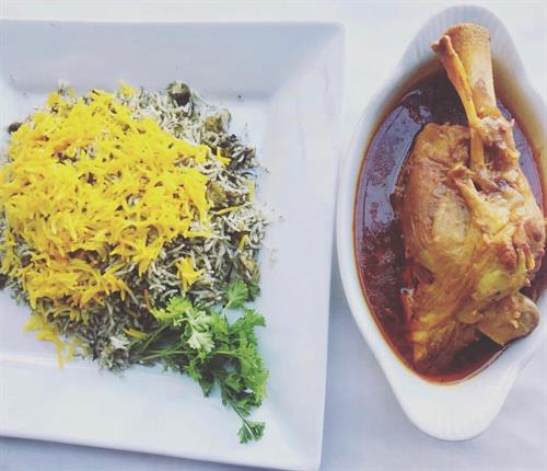 Lamb Shank with Baghali Polo (Dill & Lima Bean Rice)
