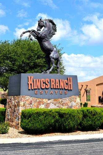 Entrance to the Kings Ranch Estates Subdivision