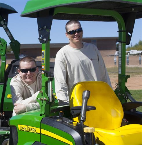 Grounds maintenance at Fort Huachuca
