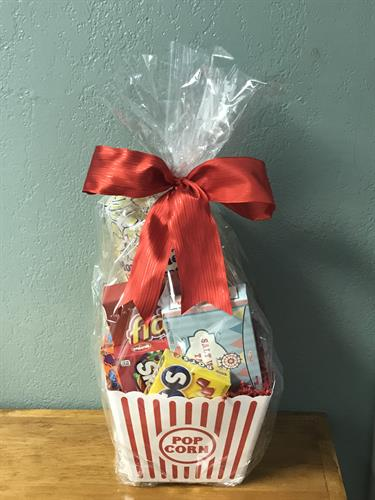 Movie Consession Basket for a raffle