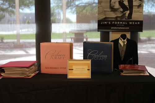 Invitations and Announcements Table_Prom and Bridal Fair_Cochise College_April 2016