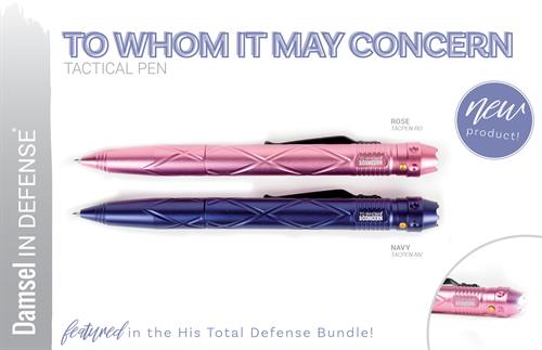 Love this tactical pen, flashlite, dna collector and can be used for your personal protection.