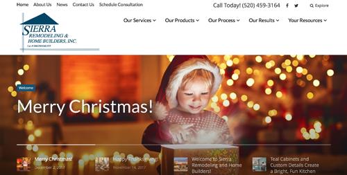 Sierra Remodeling homepage