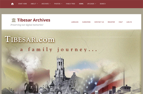 Tibesar Family Archives homepage