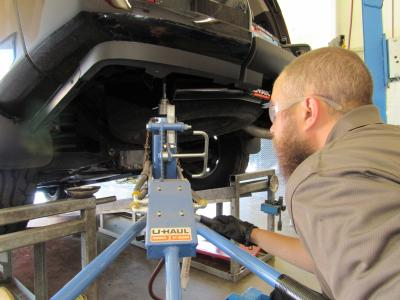 Trailer Hitch Installation at U-Haul Moving & Storage of Sierra Vista